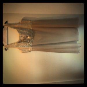 Beaded dress with matching short jacket